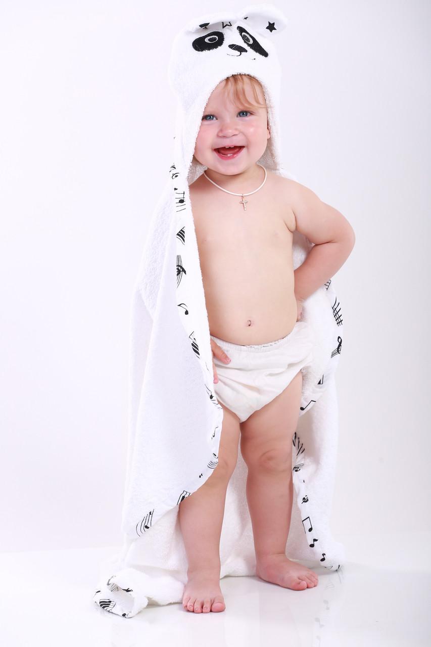 Полотенце для купания панда детское белое