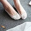 Кружевные тапочки-носочки белые