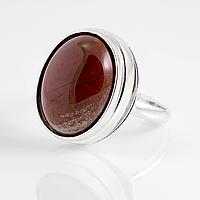 Яшма красная, 16*12 мм., серебро 925, кольцо, 894КЯ