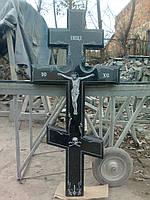 Крест православный с распятием и орнаментом