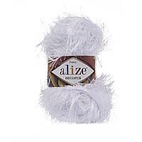 Турецкая пряжа для вязания нитки Alize DECOFUR (Декафур) травка 55 белый