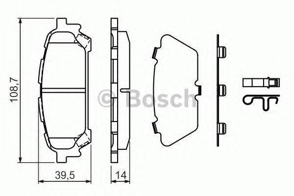 Колодка торм. диск. SUBARU IMPREZA (GD, GG) задн. (пр-во Bosch), фото 2