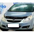 Дефлектор капота, мухобойка Opel Corsa D 2007-> VIP