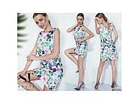 Летнее цветочное женское платье 31065