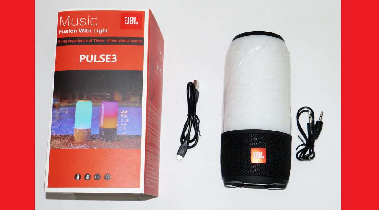 JBL PULSE 3 mini Blutooth колонка с LED подсветкой