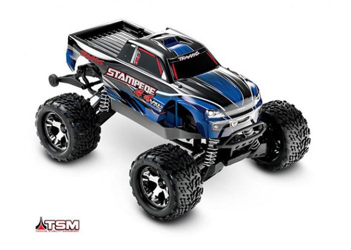 Автомобиль Traxxas Stampede Brushless Monster 1:10 ARTR 500 мм 4WD TSM 2,4 ГГц (67086-4 Blue)