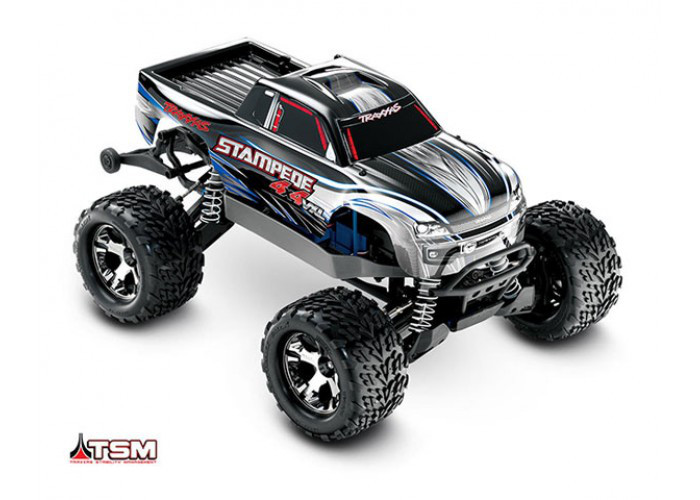 Автомобиль Traxxas Stampede Brushless Monster 1:10 ARTR 500 мм 4WD TSM 2,4 ГГц (67086-4 Silver)