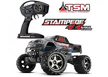 Автомобиль Traxxas Stampede Brushless Monster 1:10 ARTR 500 мм 4WD TSM 2,4 ГГц (67086-4 Silver), фото 3