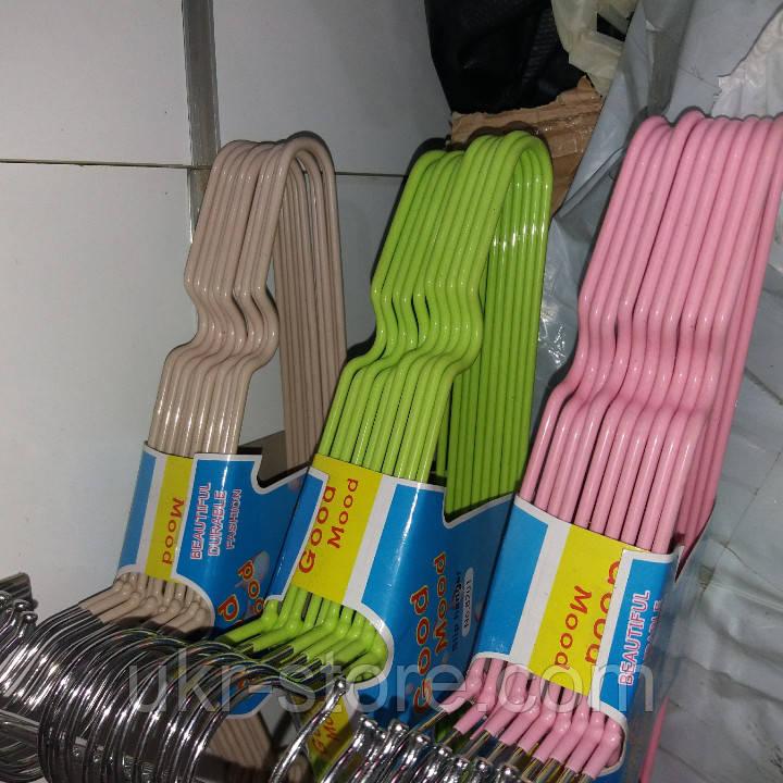 Плечики детские силикон разноцветные