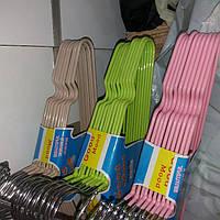 Плечики детские силикон разноцветные, фото 1