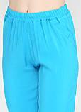 Штаны, Брюки женские штапельные (голубой), фото 3