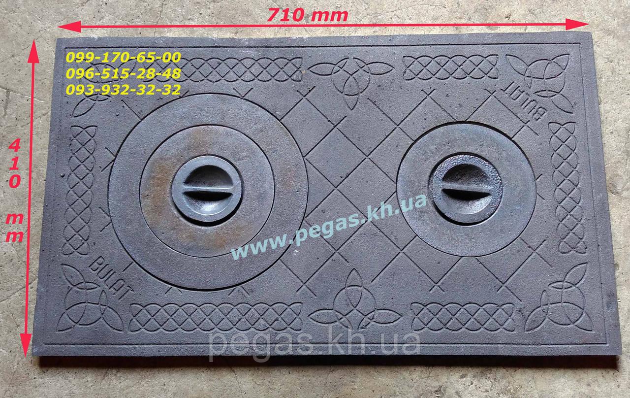 Плита чугунная печная 410х710 мм, грубу, барбекю, мангал
