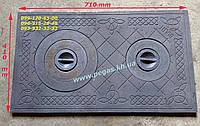 Плита чугунная печная 410х710 мм, грубу, барбекю, мангал, фото 1