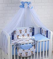 """Постель в детскую кроватку """"Морячок"""" для мальчика"""