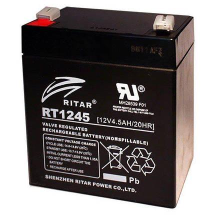 Аккумулятор 12V вольт 4.5 ah ампер, фото 2