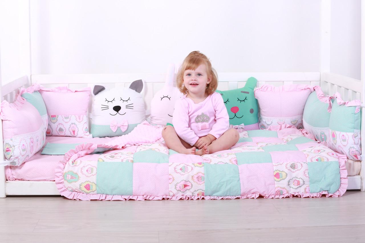 Комплект в кроватку с зверюшками