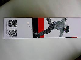 Фото коробки с боку где расположен QR-код с сылкой на приложение для синхронизации Экшн-камеры SJ4000 SJCAM WiFi с андроид или IOS устройством.