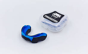 Капа боксерская односторонняя (одночелюстная) двухкомпонентная в футляре Venum Predator BO-5491 синяя