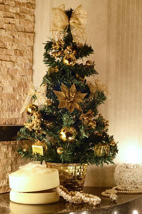 Елка   украшенная 45 см золотая 0305 G, фото 2