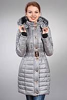 Зимняя женская молодежная куртка. Код К-52-12-15. Цвет серый