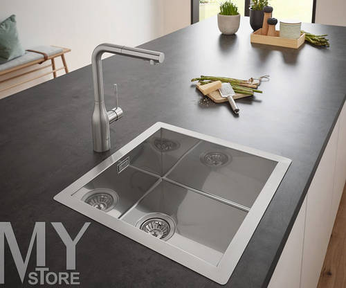 Мойка GROHE Sink K700 464x464 31578SD0 сатин