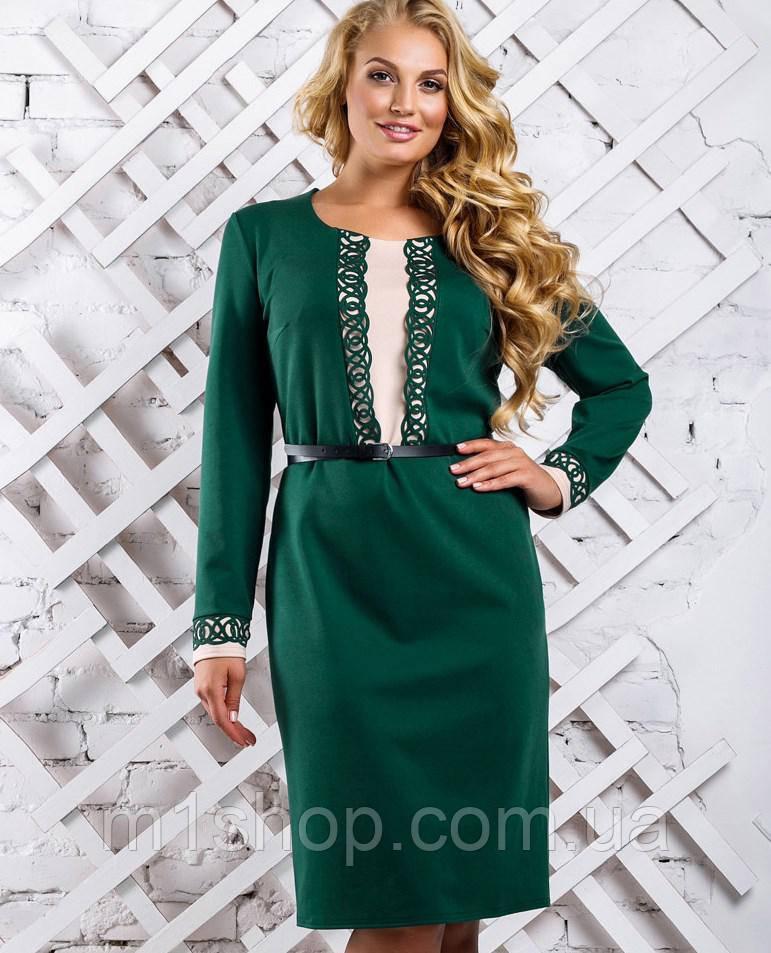 d1485a887e88890 Женское трикотажное платье для полных (2329-2330 svt) , цена 440 грн.,  купить в Харькове — Prom.ua (ID#743637678)