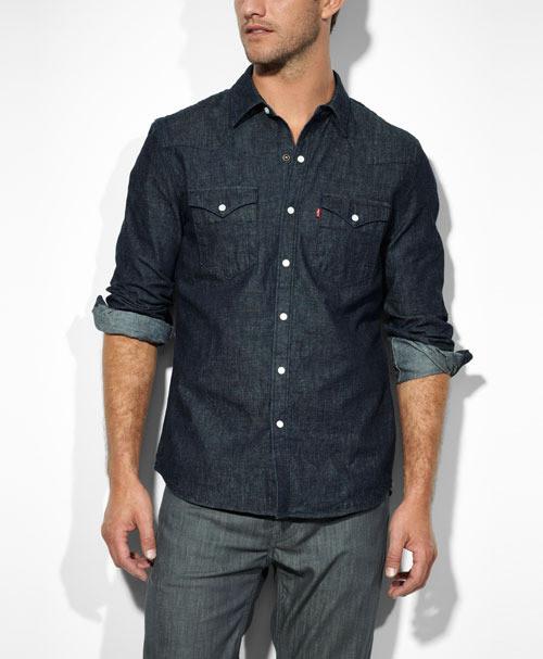 Джинсовая рубашка Levis Barstow Western - Rinse (L)