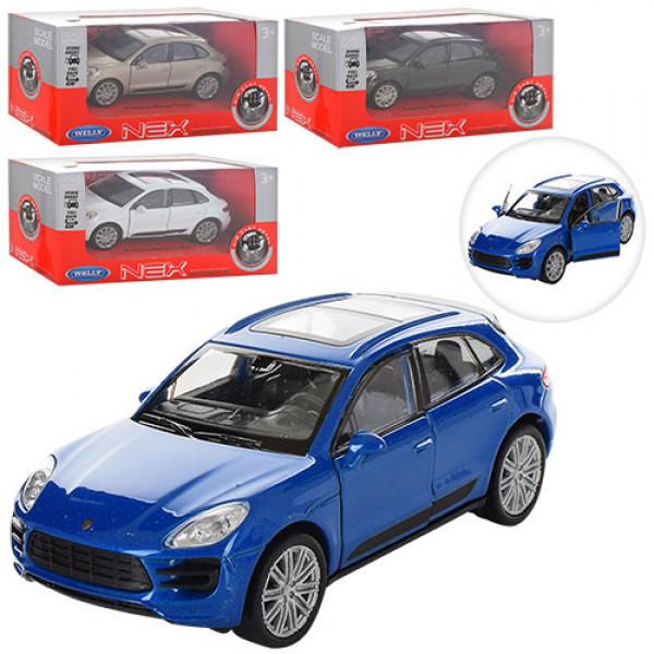 Машинка WELLY 43673CW Porsche Macan Turbo, металл, инерционная
