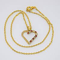 Подвес Сердце золотое, фото 1
