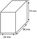 Сменная графитовая насадкаа для собственной ручки 88х72х52 мм
