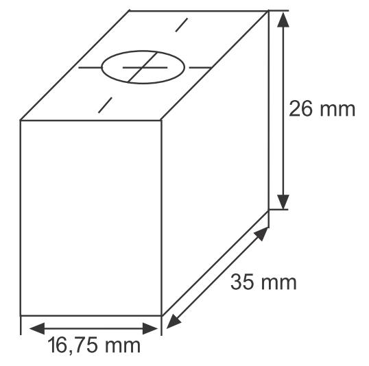Сменная графитовая насадка  90°, с резьбой M10 для штампа 5025 ST
