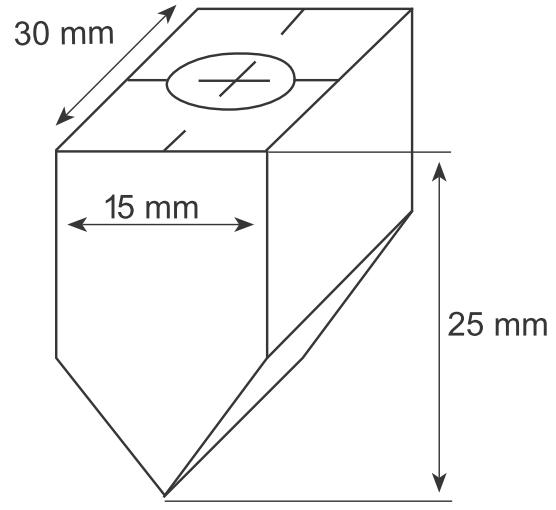 Сменная графитовая насадка  60°, с резьбой M10 для штампа 5024 ST