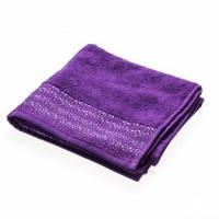 Махровое полотенце Marca Marco Stratum пурпур 70 см на 140 см