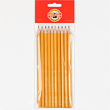 Олівець графітний 1570, 2B (полібег 10 шт)
