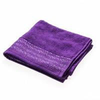 Махровое полотенце Marca Marco Stratum пурпур 100 см на 150 см