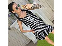 Летнее женское платье-сарафан с котом 30915