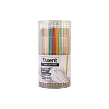 Олівець графітний Axent 9001-А, НВ, 100 шт., туба