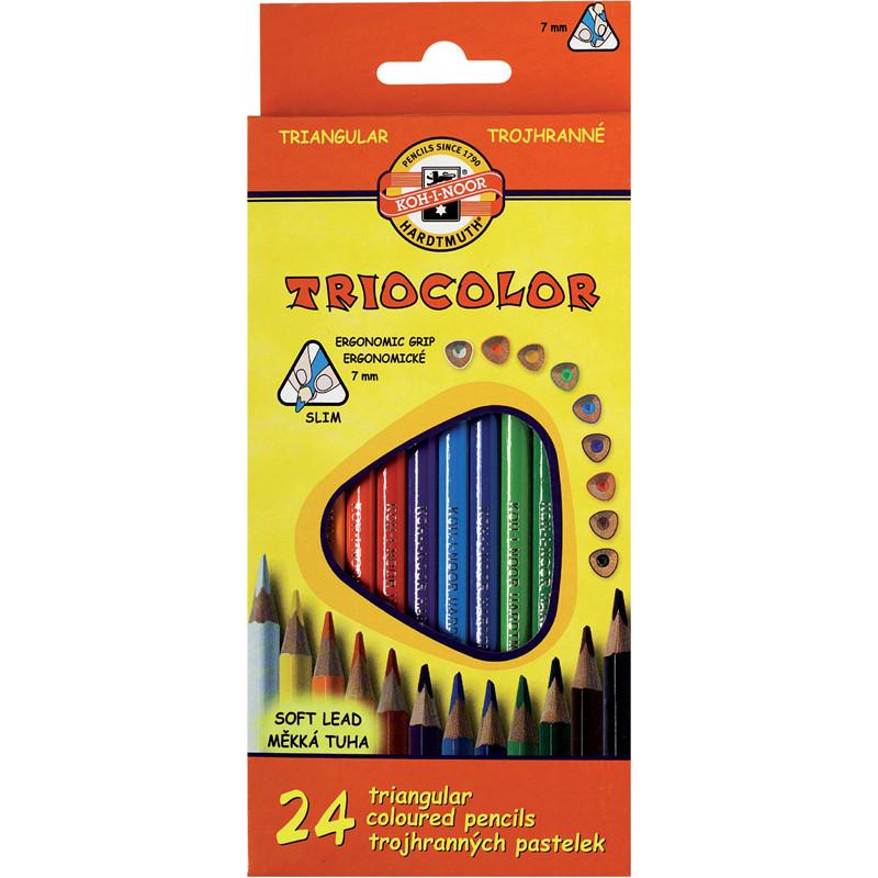 Олівці кольоровi Triocolor, 24шт.