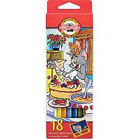 """Олівці кольорові """"Tom&Jerry"""", 18 шт."""