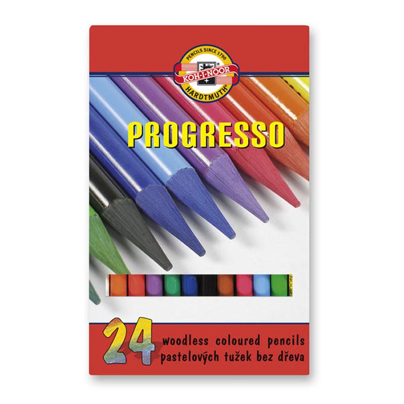 Олівці кольорові бездеревні PROGRESSO, 24 шт.