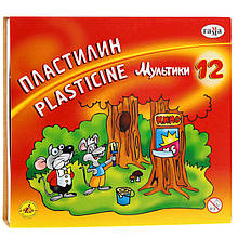 """Пластилін """"Мультики"""", кор., стек, 240 г, 12 кол."""