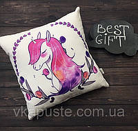 "Подушка-метрика (именная подушка) ""Принцесса Unicorn"""