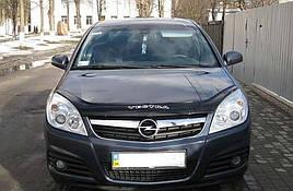 Дефлектор капота, мухобойка Opel Vectra C 2006-2008/рестайлинг VIP