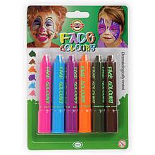 Фарби для обличчя, 6 шт., Mix colors