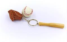 Брелок Мяч бейсбольный, бита, ловушка FB-2412 (металл, пластик, PVC, 1уп.-12шт., цена за 1 шт.)