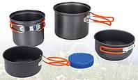 Набор посуды из анодированного алюминия на 1-2 персоны TRC-075 Tramp