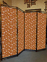 "Ширма ""Листочки ""коричневая  170х200см"
