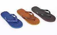 Вьетнамки пляжные мужские M0 (р-р 10-13, RUS-40-44, резина, EVA, цвета в ассортименте)