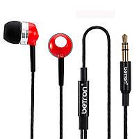Навушники Betron RK300, шумоізолюючі, з чистим звуком, не заплутуються, для iPhone, iPad, iPod,Mp3-плееров