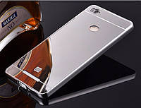 Зеркальный Чехол/Бампер для Xiaomi Redmi 3s Серый (Металлический), фото 1